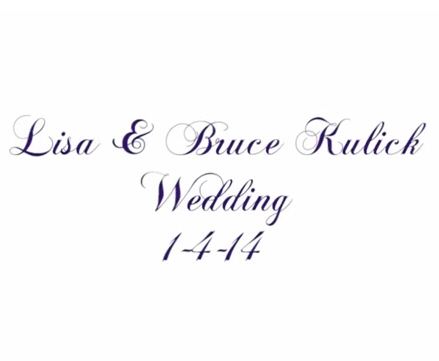 Bruce Kulick & Lisa Lane Wedding Song