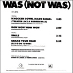 WAS (Not Was)  promo sampler