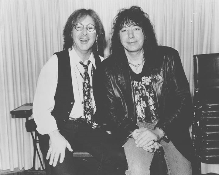 PETER CRISS and ACE FREHLEY in the studio 1994